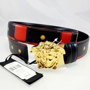 NWT $550 Versace Gürtel Mit Medusa Black Belt Sz46